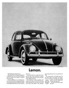 Pubblicità Volkswagen Bill Bernbach